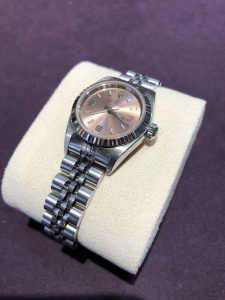 Rolex Vintage ladies pink and stainless steel