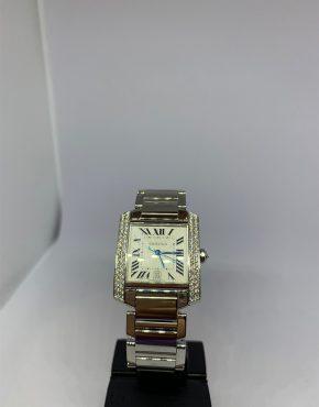 Cartier Tank Francaise Diamond Bezel