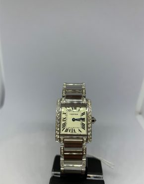Cartier Tank Francaise Diamond Bezel and Bracelet