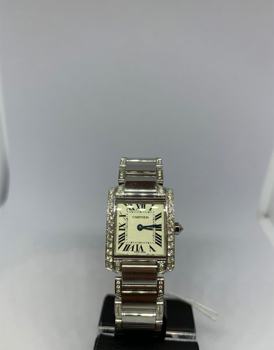 Cartier Tank Francaise Diamond Bezel and Bracelet