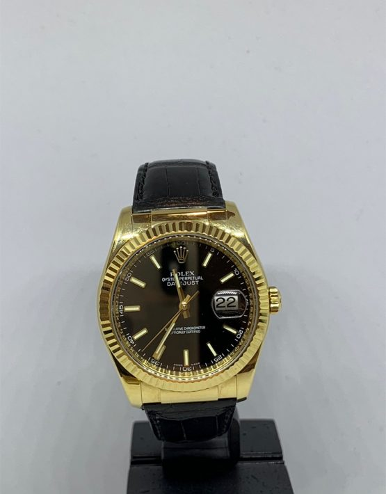 Rolex Datejust 18ct Leather Strap