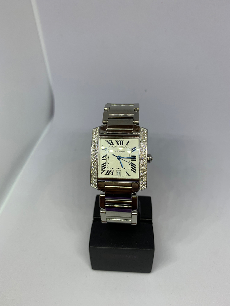 16db7cac6eed5 Cartier Tank Francaise Diamond Bezel Medium - Watches of Henley St