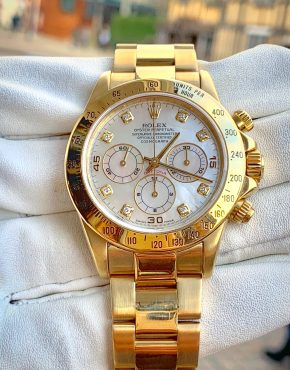 Rolex Daytona Zenith Mother of Pearl Diamond Dial 18ct